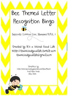 This bee themed bingo is for letter (capital) recognition and supports Common Core Standard RFK 1.  Included are 5 different bingo cards featur...
