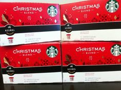 Starbucks 2012 Christmas Blend K-cups 4 Boxes of 12ct (48ct Cups Total)  http://www.fivedollarmarket.com/starbucks-2012-christmas-blend-k-cups-4-boxes-of-12ct-48ct-cups-total-3/