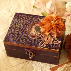 Jewelry Box  Lilac by MinaSmoke on Etsy