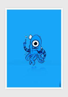 BLUE OCTOPUS by Elia Pirazzo, via Behance