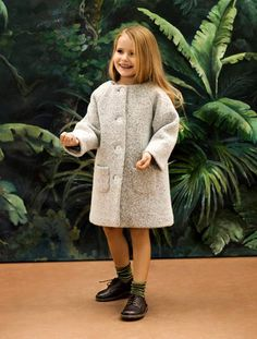 the padded Zarina boiled wool coat with raglan sleeves  www.ameliamilano.it James Girone's Guide to the Children's Marketplace