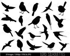 Popular Bird Clipart Clip art Bird Silhouette Clipart Cute bird animal clipart swallow