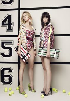 chic beach wear, floral one pieces (msgm cruise collection)