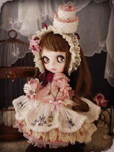 Happy 4th of July~ Custom Blythe - pure rose by Milk Tea