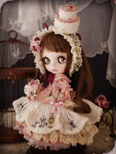 Happy 4th of July~ Custom Blythe - pure rose by Milk Tea