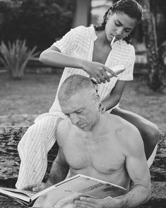 love + romance + couples + relationship goals + Vincent Cassel and Tina Kunakey Vincent Cassel, Tina Kunakey, Interracial Couples, Jolie Photo, Couple Goals, Cute Couples, Persona, Photoshoot, In This Moment