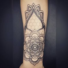 This beautiful mandala design with intricate dot work is crafted by the talented C. Olaf Hognell.