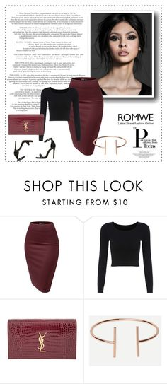 """""""Romwe #6"""" by amina-haskic ❤ liked on Polyvore featuring Yves Saint Laurent and romwe"""