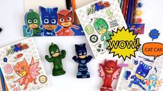 New! Great video of COLORS and PJ Masks heroes for kids. Hello everyone, welcome to YOOPY Toys and Fun! We presents you an educational video for  kids, toddlers, preschoolers and children. Who goes into the night so they can save the day? The superhero team PJ Masks of course: Catboy , Owlette and Gekko. Kids love this show and want to continue the action and adventure in their own play with toys, music and games. Kids play and learn colors with fun games and toys. We color the PJ Masks… Pj Mask, Save The Day, Learning Colors, Educational Videos, Great Videos, Coloring For Kids, Hello Everyone, Fun Games, Kids Playing