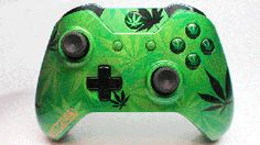 Green Weed Camo Xbox One Controller Custom Xbox One Controller, Xbox Controller, Geek Games, Xbox 360 Games, Sims 4 City Living, Sims 4 Expansions, Bubble Games, Xbox 360 Console, Star Wars Games