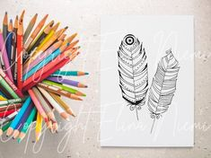 Paisley Coloring Pages, Cool Coloring Pages, Printable Coloring Pages, Coloring Pages For Kids, Wall Art Crafts, Diy Wall Art, Card Drawing, Colorful Feathers, How To Draw Hands