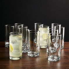 Set of 12 Impressions Cooler Glasses | Crate and Barrel #FairfieldGrantsWishes