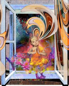 """Enlightenment Out the Window""  Original  by @derrickgrant2  #visionaryart #psychedelicart #derrickgrant"