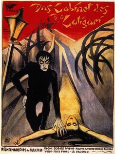This poster for The Cabinet of Dr. Caligari (1920) conveys the angularity of the stars and Walter Röhrig, Hermann Warm and Walter Reimann's sets. One of my favorite German Expressionist Film. Awesome!!