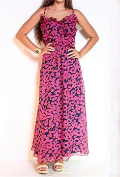 MM Couture Ruffle Front Maxi Dress