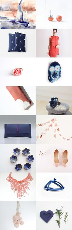 Coral blue by Anna on Etsy--Pinned with TreasuryPin.com