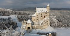 Bobolice Castle, Poland during the wintertime.