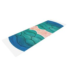 Ocean Flow by Pom Graphic Design Yoga Mat