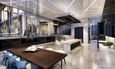 ECHO Brickell Carlos Ott Penthouse Kitchen Flow Through