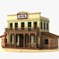 Cartoon Western Building 3 (Bank) Model available on Turbo Squid, the world's leading provider of digital models for visualization, films, television, and games. Craft Stick Projects, Old West Town, Minecraft Decorations, Ho Scale Trains, Minecraft Projects, Le Far West, Architecture Old, Model Trains, Wild West