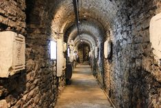 The medieval underground passage was built to monitor enemy activities