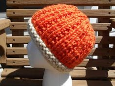 Pumpkin Spice Hat | This cozy knit hat is a great way to usher in cooler temperatures.