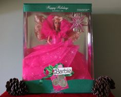 Vintage 1990 Holiday Barbie Doll Limited by PaintedOnPlaques, $200.00