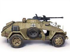 Sd.Kfz.221w. s.Pz.B. 41   Georgy Piskun Mg 34, Afrika Korps, Military Armor, Model Tanks, Armored Fighting Vehicle, Military Modelling, Tank Design, Military Diorama, Futuristic Cars