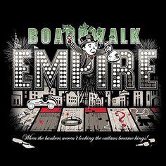 'Bordwalk Empire' TV Show Parody - Vinyl Sticker