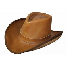 Hat Leather Vintage Men's Cowboy Hat handmade Roper Size Small Boho... ($50) ❤ liked on Polyvore featuring men's fashion, men's accessories, men's hats, mens western hats, vintage mens hats, mens hats and vintage mens accessories
