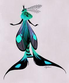 Moth Queen by drawnbydana on DeviantArt