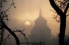 Early February misty morning in Banska Stiavnica