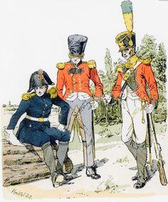 Generale, ufficiali dei fucilieri e dei Volteggiatori della confederazione elvetica al servizio dell'impero francese