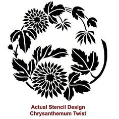 Cutting Edge Stencils - Chrysanthemum Twist Stencil
