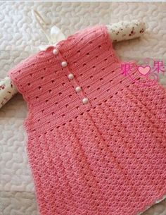 Sleeveless baby Crochet Dress Pattern. More Patterns Like This!