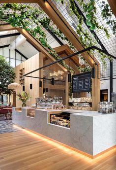 22 Ideas Wood Design Home Modern Cafe Interior Design, Cafe Design, House Design, Interior Ideas, Interior Decorating, Color Interior, Decorating Ideas, Kitchen Interior, Bakery Shop Interior