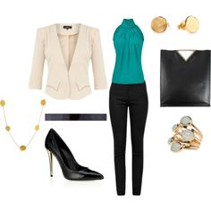 """""""No-Fail Interview Outfit"""" Love the high collar for my nervous hives...dangit"""