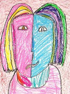 Picasso portraits...1st grade