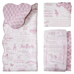 Pirouette 3pc Crib Bedding Set