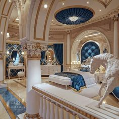 Dream Home Design, My Dream Home, Royal Bedroom, Dream Mansion, Luxury Bedroom Design, Design Living Room, Mansion Interior, Luxury Homes Dream Houses, Aesthetic Rooms