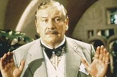 """Peter Ustinov in Agatha Christie's Poirot - Peter Ustinov played Poirot six times, starting with Death on the Nile (1978). He reprised the role in Evil Under the Sun (1982) & Appointment with Death (1988). When Christie's daughter, Rosalind Hicks, observed Ustinov during a rehearsal, she said, """"That's not Poirot! He isn't at all like that!"""" Ustinov, overhearing, remarked """"He is now!"""""""