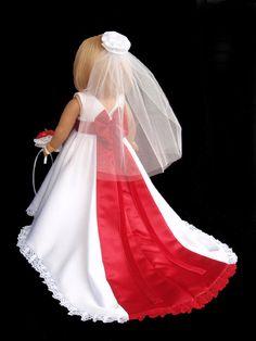 American Girl Doll Clothes Satin Princess Wedding by SewSoNancy