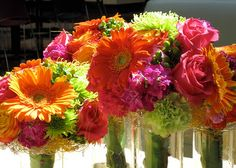 bright gerber daisy bouquets by Les Bouquets, via Flickr