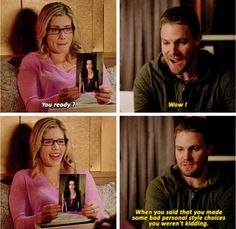 Oliver meets Goth Felicity #Olicity #Arrow 4x11