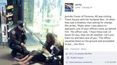 When New York Police Department officer Larry DePrimo was cold wearing two pairs of wool socks and combat boots, he couldn't imagine how freezing a barefoot man asking for change in Times Square felt. Deprimo purchased thermal socks and insulated winter boots to give to the man, and a chance photo of the officer's act of kindness has since gone viral.