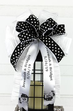 Your place to buy and sell all things handmade Bow Wedding, Wedding Gifts, Wedding Decor, Personalized Ribbon, Personalized Wedding, New Baby Wreath, Ribbon Bows, Ribbons, Wreaths For Sale