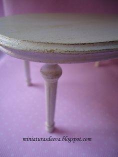 Wooden table 1/12 scale by MiniaturasDeEva on Etsy. €15,00, via Etsy.