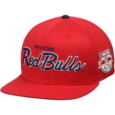 c520ca3d74c Mitchell   Ness New York Red Bulls Special Script Snapback Hat - Red. MLS  Caps   Hats