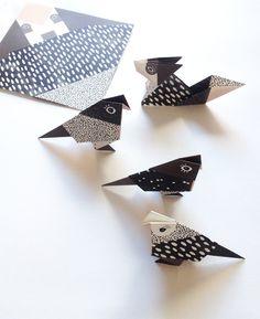 DIY Origami Birds & Foxes