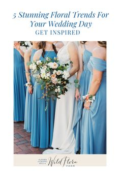Have a look at The Barn of Chapel Hill's blog post where they're sharing with you 5 unique wearable flower ideas for you to incorporate into your wedding day. Long gone are the days of boring boutonnieres and basic mothers' corsages, wearable flowers are truly an art form. Head to the blog and view the wedding gallery to be inspired to incorporate beautiful wearable flowers into your wedding day. Wedding Hair Flowers, Flowers In Hair, Floral Wedding, On Your Wedding Day, Perfect Wedding, Bridesmaid Dresses, Wedding Dresses, Wedding Bouquets, Flora Farms
